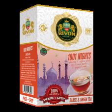Чёрный чай Rivon Специал Таємниця 1001 Ночи чорн.зел 100г
