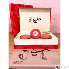 Подарочная коробка Chinese tea Красная (3 круглых банки)