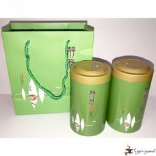 Подарочный набор Зеленый (2 круглые банки)