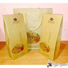 Подарочный Набор Крафт с бумажными коробками 2шт 75х250х290