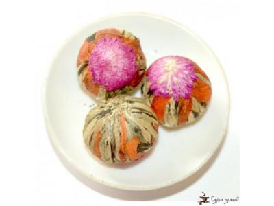 Вязанный чай Guang Fu лилия - амарант 25г