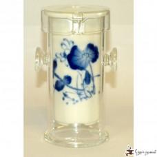 Стеклянная колба для заваривания чая с фарфоровым заварником