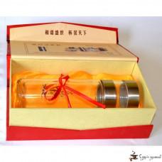 Стеклянный стакан термос для заварки чая 480мл