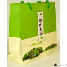 Картонный пакет с ручками китайский зеленый чай