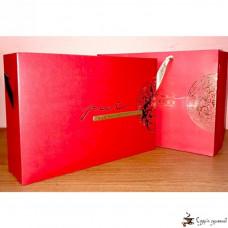 Подарочная коробка Poet Rong Hua Fu Gui Красная (3 квадратных банки)