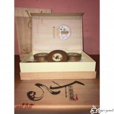 Подарочная коробка Precious tea gift Золотая (3 круглые банки)