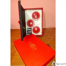 Подарочная коробка Precious tea gift Красная (3 круглые банки)