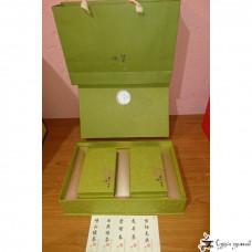 Подарочная коробка Зеленая (2 прямоугольные банки)