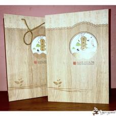 Подарочная коробка Ласточки светлое дерево (3 круглые банки)