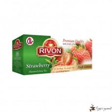 Зелёный чай Rivon 2г*25 пакетів Полуниця