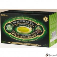 Зеленый чай Sun Gardens GunPowder 3г*20 пирамида-пакет